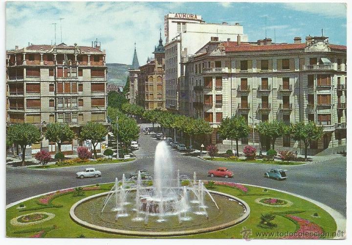 POSTAL PAMPLONA - PLAZA PRINCIPE DE VIANA Y AVDA. SAN IGNACIO - G. GARRABELLA 1962 (Postales - España - Navarra Moderna (desde 1.940))