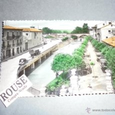 Postales: TUDELA 5 - PASEO GENERALISIMO FRANCO CIRCULADA 1958 EDC. SICILIA ILUMINADA CON ANILINAS 14X9 CM. . Lote 52516279