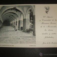 Postales: PAMPLONA CLAUSTROS DEL CAMPO SANTO DE SAN JOSE CEMENTERIO. Lote 52958665