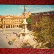 Postales: POSTAL PAMPLONA MONUMENTO A LOS FUEROS. 1963 VAQUERO Nº 39. CIRCULADA. Lote 52995621