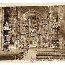 Postales: NAVARRA LOS ARCOS INTERIOR DE LA PARROQUIA DE LA ASUNCION. L. ROISIN, FOT. SIN CIRCULAR. Lote 53257754