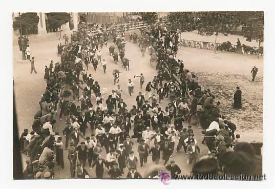 TARJETA POSTAL FOTOGRÁFICA. ENCIERRO DE SAN FERMIN. FOTO GALLE.1931. (Postales - España - Navarra Moderna (desde 1.940))