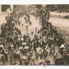 Postales: TARJETA POSTAL FOTOGRÁFICA. ENCIERRO DE SAN FERMIN. FOTO GALLE.1931.. Lote 53656032