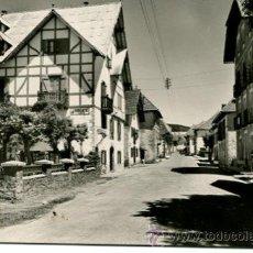 Postales: BURGUETE-CARRETERA DE FRANCIA Y HOTEL LOIZU-RARA. Lote 53856136