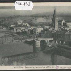Postales: SANGÜESA - ZANGOZA - PUENTE DE HIERRO - HUECOGRABADO FOURNIER - (40453). Lote 53962503