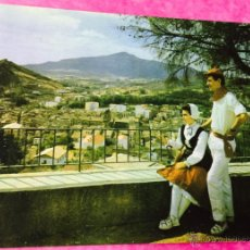 Cartoline: ESTELLA - NAVARRA - VISTA PARCIAL Y PAREJA TÍPICA (AL FONDO MONTEJURRA) - AÑO 1964. Lote 54355465
