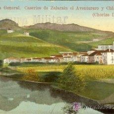 Postales: PS2758 VERA. CASERÍOS DE ZALACAÍN EL AVENTURERO Y CHISTORME. CHORIZO DELGADO. CENSURA. 09/1939. Lote 16053383