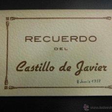 Postales: TARJETA POSTAL BOCK RECUERDO CON 10 POSTALES DEL CASTILLO DE JAVIER NAVARRA. Lote 54638111