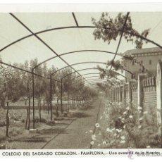 Postales: PS6223 PAMPLONA 'COLEGIO SAGRADO CORAZÓN. AVENIDA DE LA HUERTA'. FOURNIER. CIRCULADA. 1958. Lote 53761619