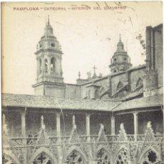 Postales: PS5559 PAMPLONA 'CATEDRAL - INTERIOR DEL CLAUSTRO'. F. URDÁNIZ. 1918. Lote 46782029