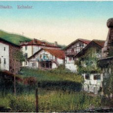 Postales: PS4911 ECHALAR 'RINCÓN BASKO'. A. ECHAIDE. CENSURA MILITAR. 1939. Lote 45795142
