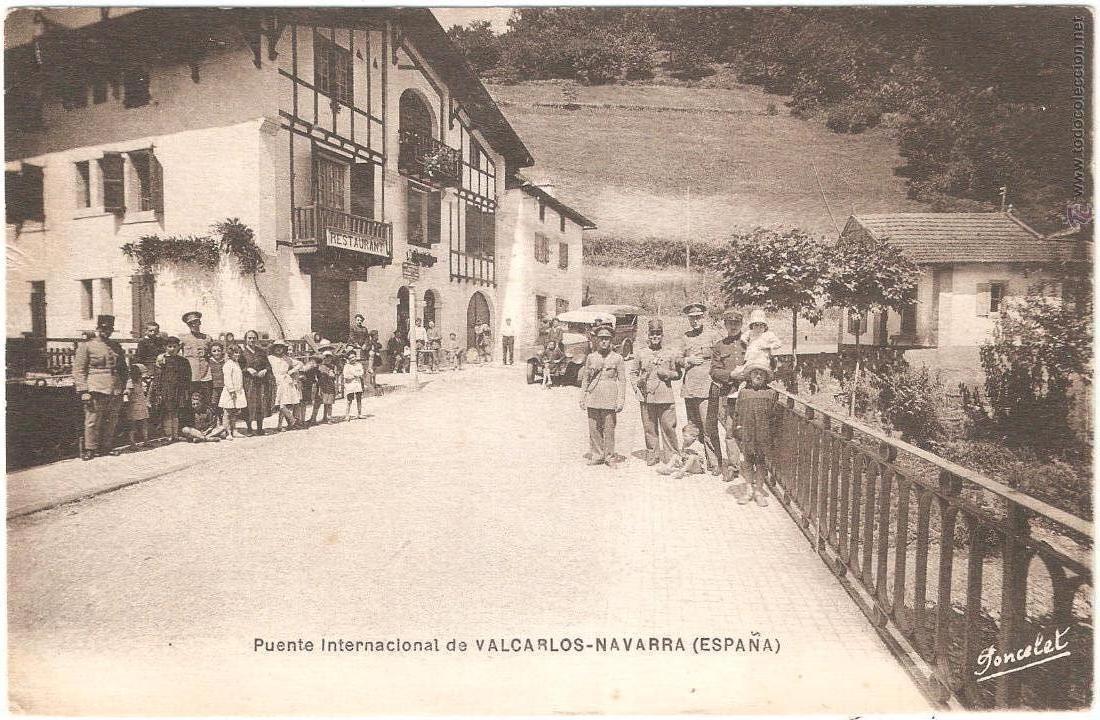 VALCARLOS PUENTE INTERNACIONAL NAVARRA (Postales - España - Navarra Antigua (hasta 1.939))