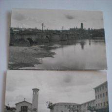 Postales: 2 POSTALES DE TUDELA. NAVARRA. EDICIONES PARIS. J. M. AÑOS 60. 1279. Lote 54911226