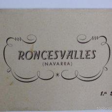 Postales: BP-64. RONCESVALLES (NAVARRA). CUADERNO CON 10 POSTALES. 1ª SERIE. COMPLETO.. Lote 55098408