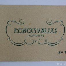 Postales: BP-65. RONCESVALLES (NAVARRA). CUADERNO CON 10 POSTALES. 2ª SERIE. COMPLETO.. Lote 55098446