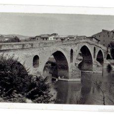 Postales: PS6624 NAVARRA 'PUENTE LA REINA'. FOTOGRÁFICA. SIN REFERENCIAS. CIRCULADA. 1957. Lote 55955102