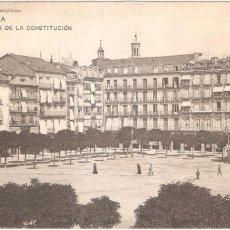 Postales: PAMPLONA PLAZA DE LA CONSTITUCIÓN 1911. Lote 56918169