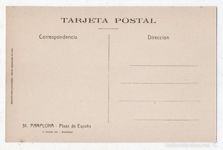 Postales: Pamplona. Plaza de España - Foto 2 - 57086943