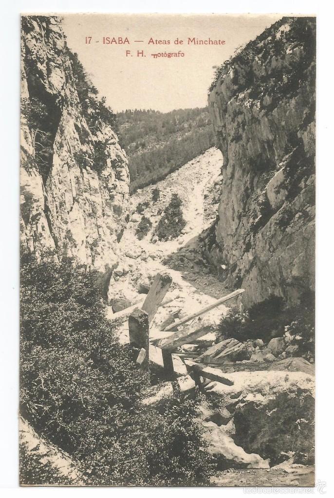 ISABA .- ATEAS DE MINCHATE .- EDICION F. DE LAS HERAS Nº 17 (Postales - España - Navarra Antigua (hasta 1.939))