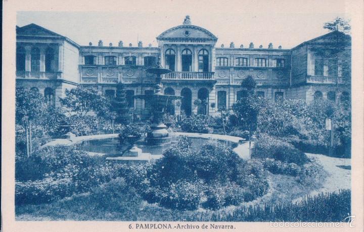 TARJETA POSTAL PAMPLONA Nº 6 ARCHIVO DE NAVARRA FOT. L. ROISIN (Postales - España - Navarra Antigua (hasta 1.939))
