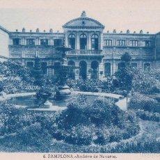 Postales: TARJETA POSTAL PAMPLONA Nº 6 ARCHIVO DE NAVARRA FOT. L. ROISIN. Lote 57416554