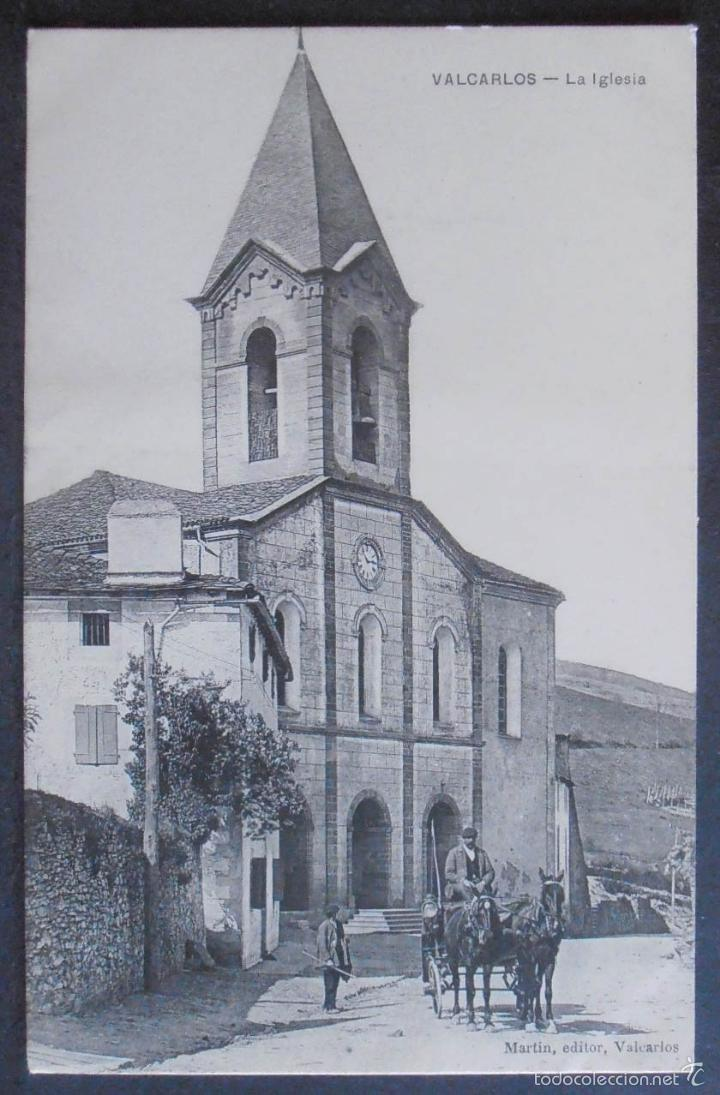 (47624)POSTAL SIN CIRCULAR,IGLESIA DE VALCARLOS,LUZAIDE/VALCARLOS,NAVARRA,NAVARRA (Postales - España - Navarra Antigua (hasta 1.939))