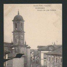 Postales: ELIZONDO.PLAZA DE LOS FUEROS.ED.EUSEBIO RUBIO.SIN CIRCULAR. Lote 57482762
