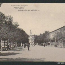 Postales: PAMPLONA.BOULEVARD DE SARASATE.ED.EUSEBIO RUBIO.SIN CIRCULAR. Lote 57483376