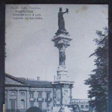 Postais: (48424)POSTAL ESCRITA,MONUMENTO A LOS FUEROS DE NAVARRA,PAMPLONA/IRUÑEA,NAVARRA,NAVARRA. Lote 57806900
