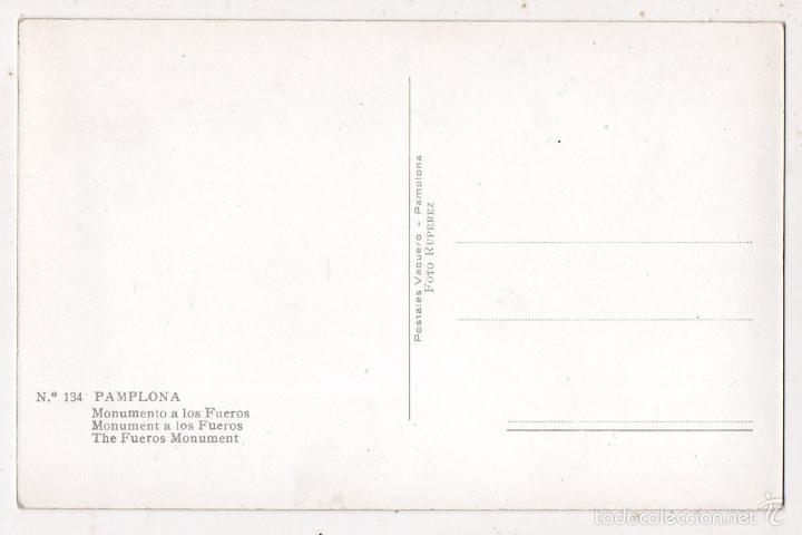 Postales: Pamplona Monumento a los Fueros. - Foto 2 - 58065078