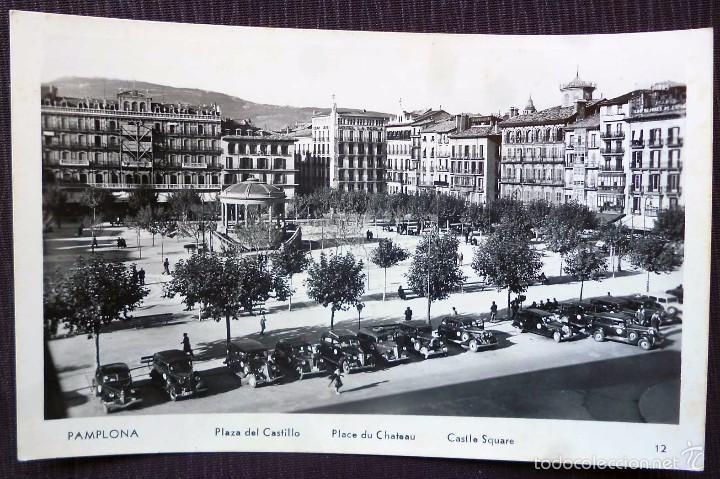 PAMPLONA. PLAZA DEL CASTILLO. (Postales - España - Navarra Antigua (hasta 1.939))