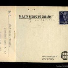 Postais: PAMPLONA. TP COMERCIAL *LIBRERÍA MANANTIAL* MEDS.: 109 X 156 MMS. CIRCULADA 1964.. Lote 58530759