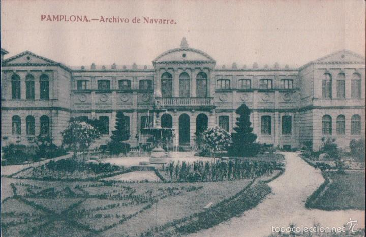 POSTAL PAMPLONA.- ARCHIVO DE NAVARRA. H.A.E., EDICION ESTANISLAO ESPELOSIN (Postales - España - Navarra Antigua (hasta 1.939))