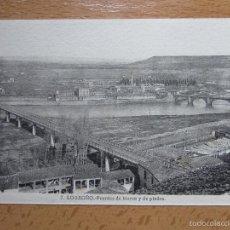 Cartes Postales: LOGROÑO. PUENTES DE HIERRO Y DE PIEDRA. Nº7. FOT. ROISIN.. Lote 173734158