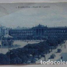 Postales: POSTAL DE PAMPLONA - PLAZA DE CASTILLO - ANIS LAS CADENAS. Lote 62163488
