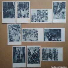 Postales: SAN FERMIN PAMPLONA LOTE POSTAL FOTOGRÁFICA ENCIERRO AÑOS '40 FOTO ROLDAN RUPEREZ MARÍN. Lote 65663486
