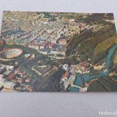 Postales: POSTAL PAMPLONA VISTA AÉREA Y PLAZA DE TOROS. MANIPEL. Lote 67107345