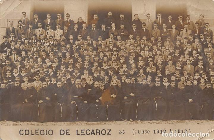 COLEGIO DE LECAROZ (NAVARRA).- CURSO 1912 A 1913) (Postales - España - Navarra Antigua (hasta 1.939))