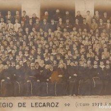 Postales: COLEGIO DE LECAROZ (NAVARRA).- CURSO 1912 A 1913). Lote 127738016