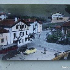Postales: VALCARLOS 10 PUENTE INTERNACIONAL 1964 ED. SICILIA COLOREADA COCHES. Lote 67313065