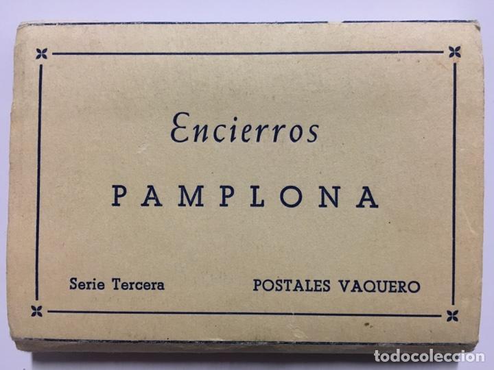 CARNET POSTAL. ENCIERROS DE PAMPLONA. POSTALES VAQUERO. (Postales - España - Navarra Moderna (desde 1.940))