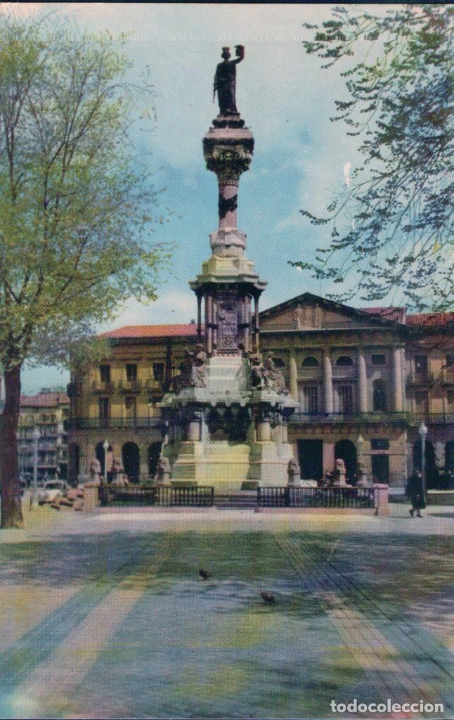 POSTAL PAMPLONA - MONUMENTO A LOS FUEROS - VAQUERO 9 - ESCALA EN HIFI - T.V.E. (Postales - España - Navarra Moderna (desde 1.940))