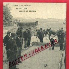 Postales: POSTAL NAVARRA , PAMPLONA , JUEGO DE BOCHAS , ORIGINAL , P86381. Lote 74948031