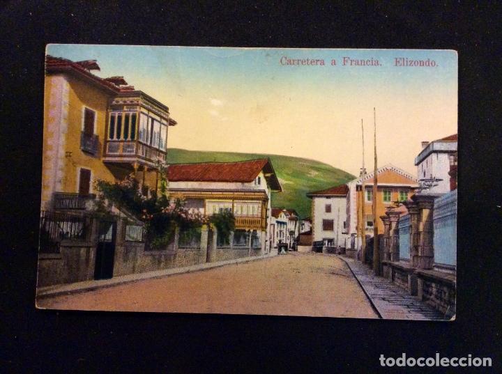 ELIZONDO. CARRETERA A FRANCIA, SIN CIRCULAR (Postales - España - Navarra Antigua (hasta 1.939))
