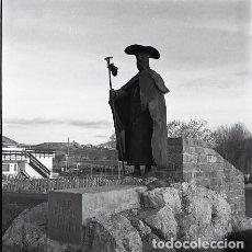 Postales: NEGATIVO ESPAÑA NAVARRA PUENTE LA REINA CAMINO SANTIAGO 1973 KODAK 55MM GRAN FORMATO NEGATIVE SPAIN. Lote 76587415
