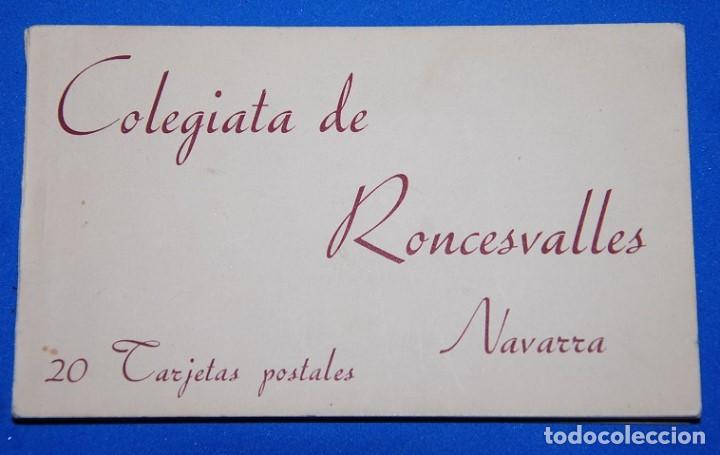 20 POSTALES COLEGIATA DE RONCESVALLES PP. SIGLO XX (Postales - España - Navarra Antigua (hasta 1.939))