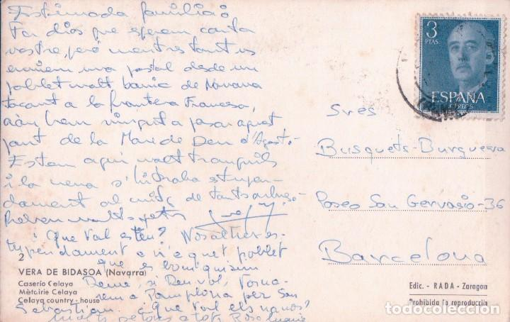 Postales: POSTAL NAVARRA - VERA DEL BIDASOA - CASERIO CELAYA 2 - RADA - CIRCULADA - Foto 2 - 81291180