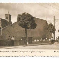 Postales: OLAZAGUTIA .- FRONTON A LA IZQUIERDA , LA IGLESIA Y CAMPANARIO .- Nº 7 EDICIONES FICA . Lote 82866372