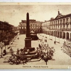 Postales: POSTAL TAFALLA - PLAZA DE NAVARRA, SIN CIRCULAR. Lote 83134380