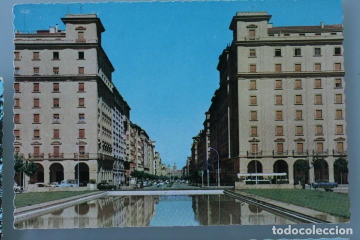 Postales: ANTIGUAS POSTALES PAMPLONA: PLAZA CASTILLO, AVENIDA CARLOS III, MONUMENTO FUEROS NAVARRA - AÑOS 60 C - Foto 2 - 84231892